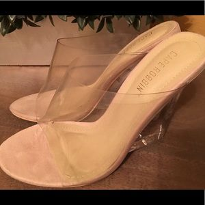 Clear shoes size 7